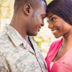 Military Couple posing together